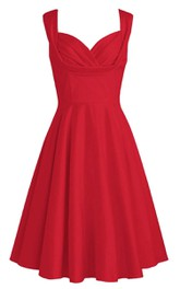 Sleeveless short A-line Dress With Ruching