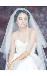 Double-Layer Simple Soft Tulle Wedding Veil