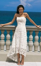 Strapless Es Wedding Sheath Gorgeous Lace Gown