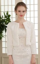 Simple Long Sleeve Jacket For Wedding Dresses