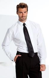 Best Man White Laydown Tuxedo Shirt