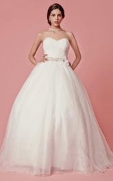 Organza Crisscross Ruched Sleeveless Sweetheart Princess Ball Gown