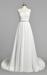 Wedding Ruched Beading A-Line Sweetheart Dress