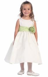 Layered Tea-Length Flower Girl Dress