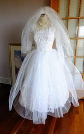 Lace Wedding Vintage Tea-Length Gown