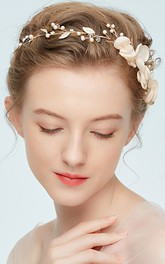 Simple Style Alloy Headbands with Flowers