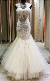 Appliqued Es Tulle Floor Length Sweetheart Sassy Wedding Gown