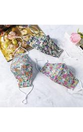 Non-medicial Floral Printed 3 Colors Cotton Reusable Face Mask