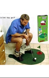 Toilet Golf Mini Bathroom Game Set Stay At Home Funny Gadget