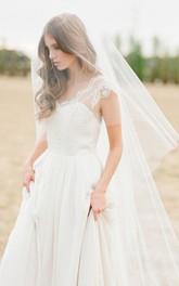 Simple Soft Super Fairy Long Wedding Veil