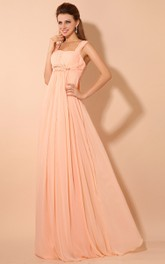 Empire Draping Straps Soft Floor-Length Dress