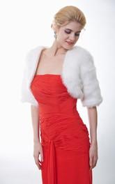 Half Sleeve Faux Fur Wedding Wrap