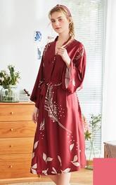 Plus Size Floral Bride Bridesmaid Long Robe