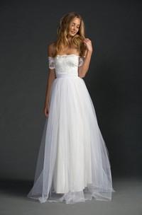 A-Line Lace Bodice Sleeves Loves Grace Dress