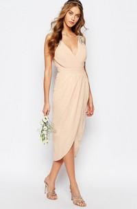 petal V-neck Sleeveless Chiffon Dress With Split Front And Beading