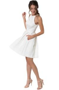 Sleeveless short A-line Dress With Zipper