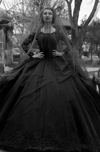 Bateau Ball Gown Long Sleeve Lace Tulle Floor-length Sweep Train Wedding Dress with Illusion Back