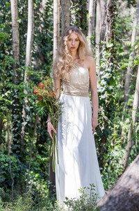 rustic One-shoulder Sheath Lace Dress With Ruched waist
