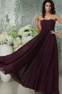 Sweetheart Draping Long Gorgeous Dress