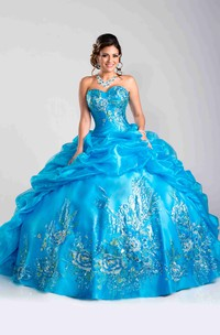 Picturesque Sequin Embellishment Sweetheart Neck Ball Gown