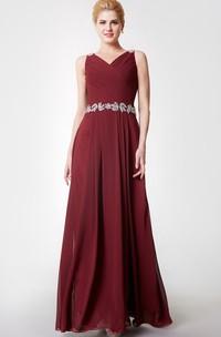 Strap Cowl Floor-Length Beaded Fabulous Chiffon Long Gown