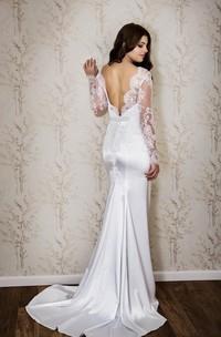 Fishtail Lace Bateau-Neckline Sassy Wedding Dress
