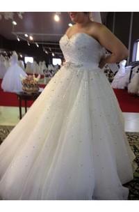 Sweetheart Tulle  Sleeveless Wedding Gown