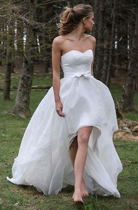 Sweetheart Chiffon  Sleeveless Wedding Gown