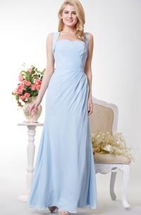 Column Crisscross Back Side Wonderful Gown
