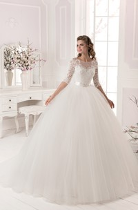 Tulle Crystal Ball-Gown Princess Dress