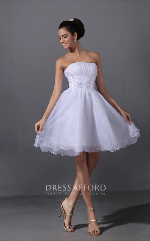 A-Line Floral Ruffled Lovely Short-Inspire Dress