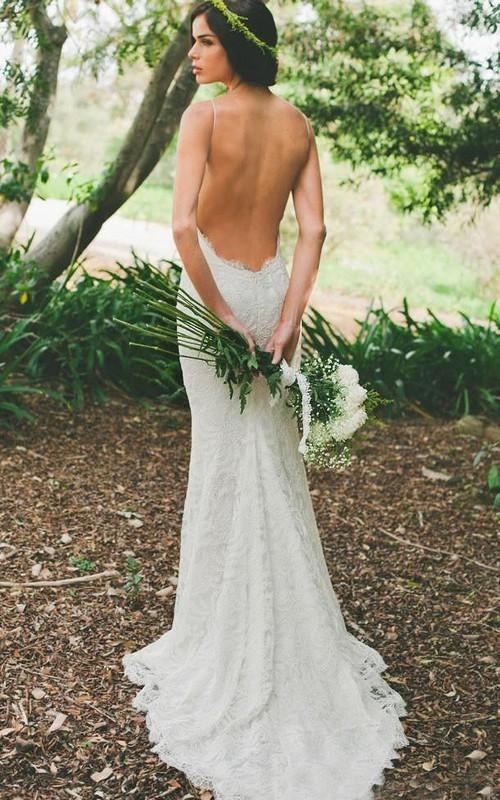 Sleeveless Long-Train Zipper Short Mermaid Backless Ruffled Gown