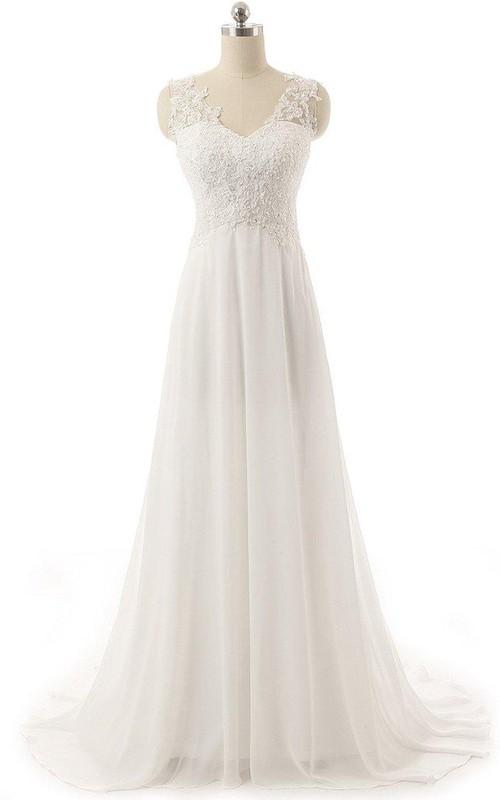 V-Neckline Ruched Appliqued Strapped Short Rhinestone Illusion Dress