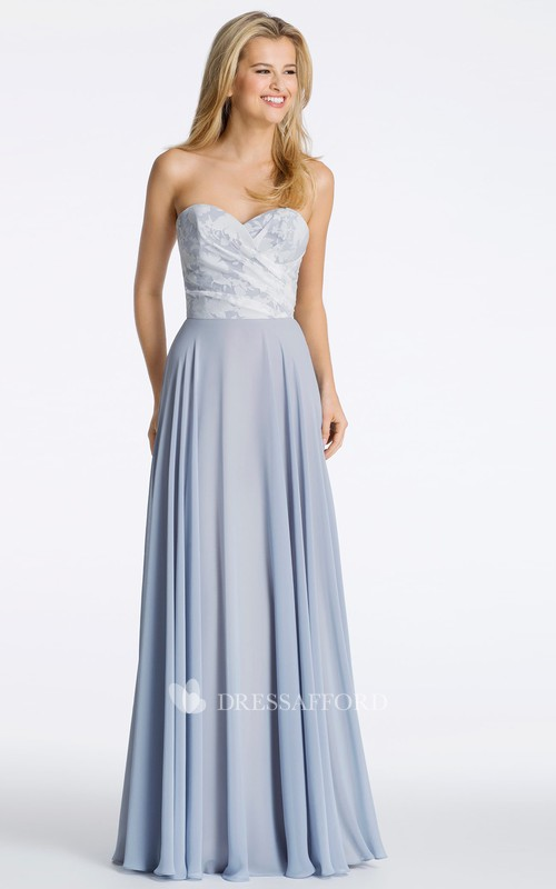 Sweetheart Criss cross Pleated Bridesmaid Dress