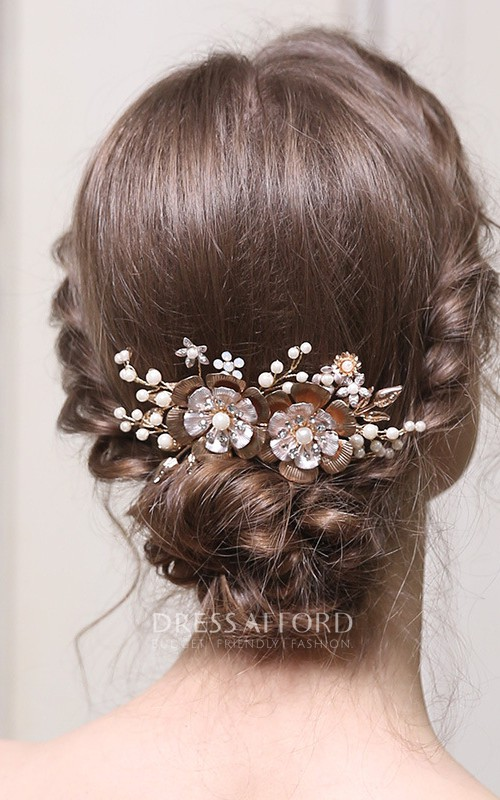Classical Rhinestone Vintage Hair Combs with Beads