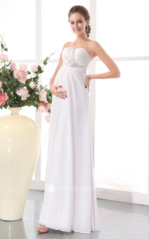 Soft Draping Sleeveless Sweetheart High-Waist Gown
