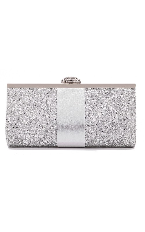 Sparkling Top Clasp Minaudiere