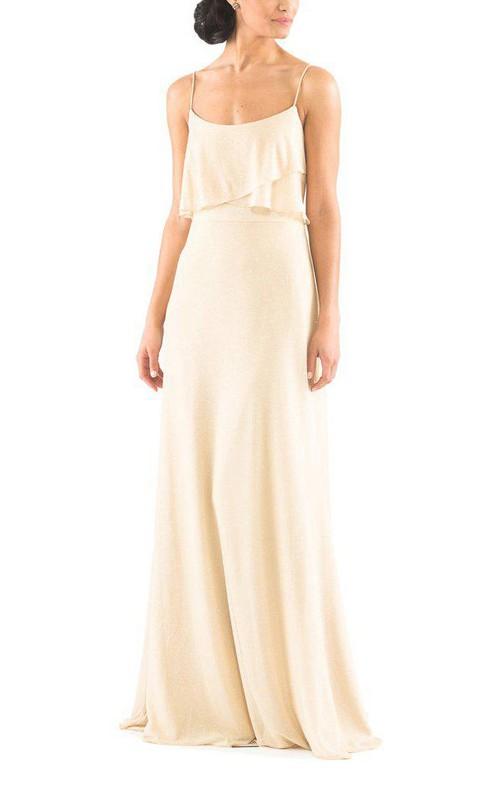 Elegant Spagetti Straps Sheath Long Dress