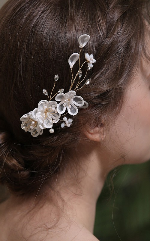 Ladies Charming Hairclips with Crystal