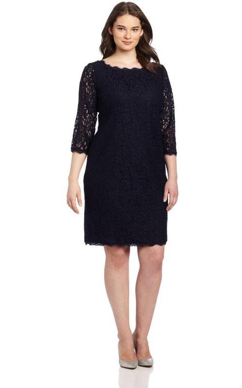 Short Long Center Zipper Knee-Length Long-Sleeve Dress