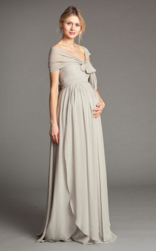 convertible chiffon Long maternity Bridesmaid Dress