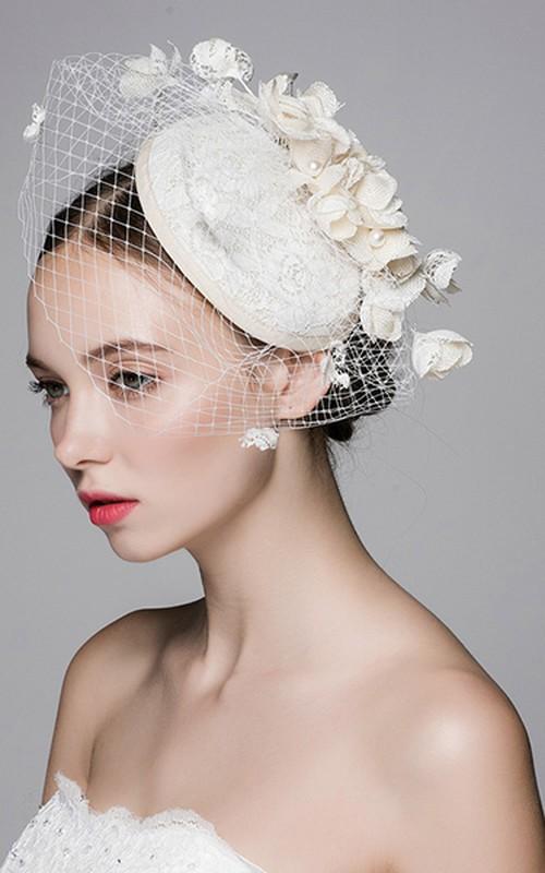 Cotton Ma Sen Flower Gauze Hat
