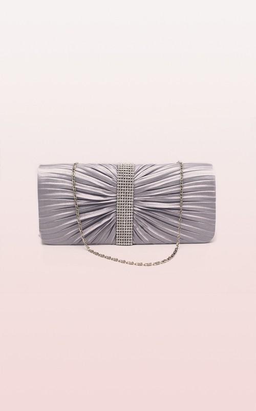 Ruching Rhinestone Handbag