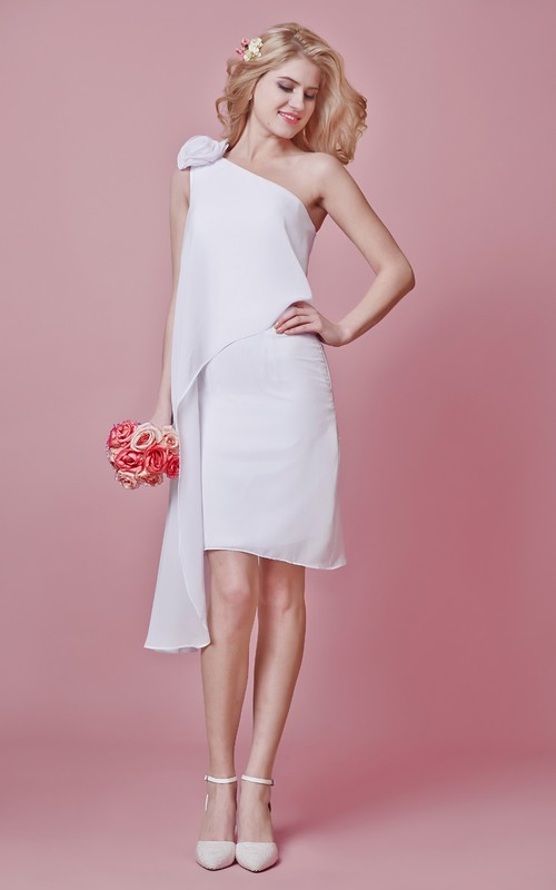 3-Dimensional Floral Accent Short Stunning Dress