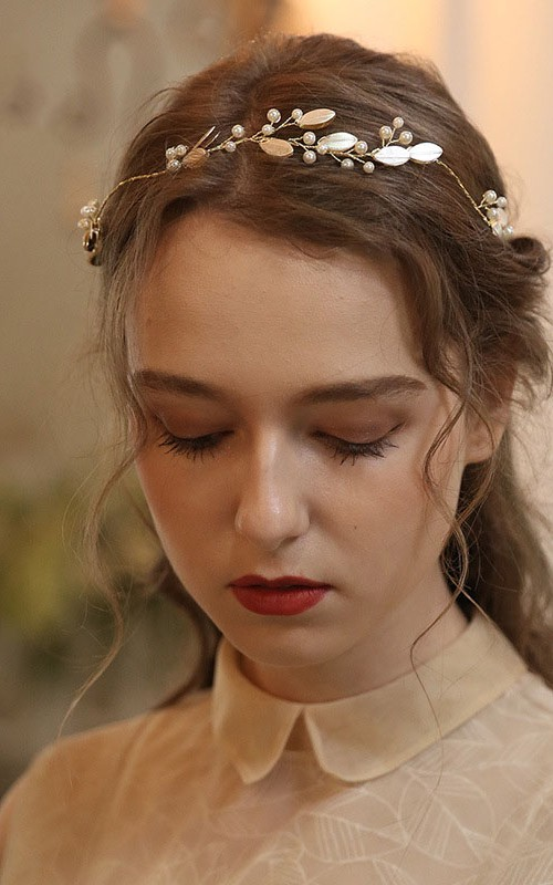 Forest Style Fresh Bridal Headbands with Beads