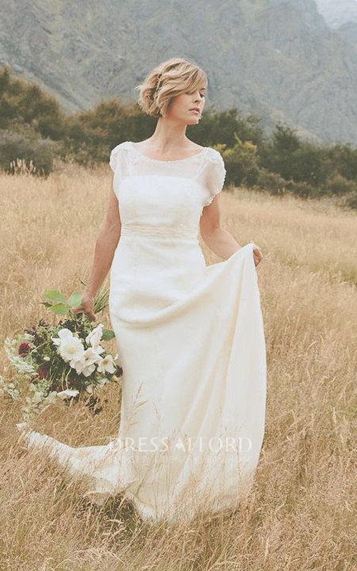 Low-Back Crinkle Belle Dark-Ivory Dress