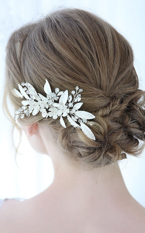 Handmade Forest Style Hair Combs with Flowers and Leaves