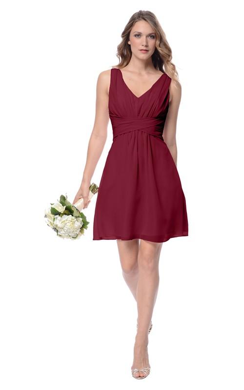 Sleeveless Classy Short Dress With Low-V Back