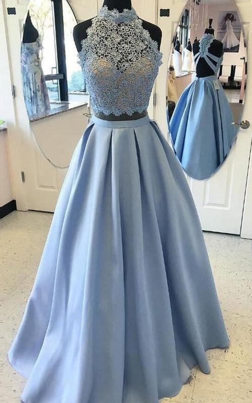 Sweetheart Satin Lace Sleeveless Floor-length Appliques  Dress